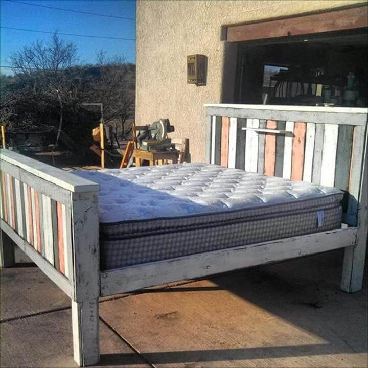 diy recycled pallet bed frame designs, Headboard designs