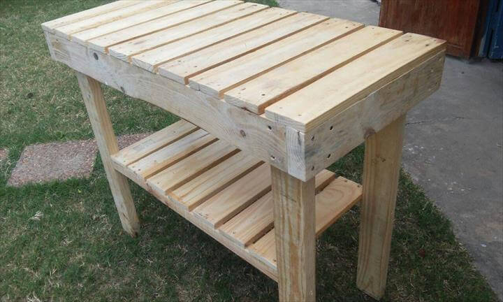 recycled pallet kitchen island table - Pallet Kitchen Island Or End Table
