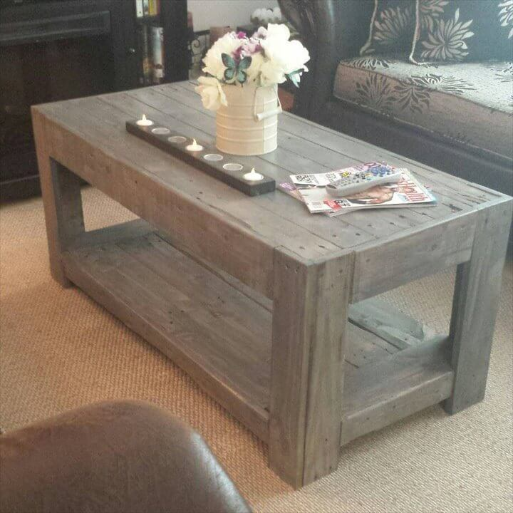 vintage inspired pallet coffee table