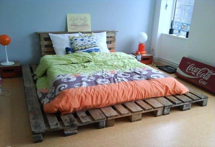Pallet Bedroom Furniture 42 diy recycled pallet bed frame designs