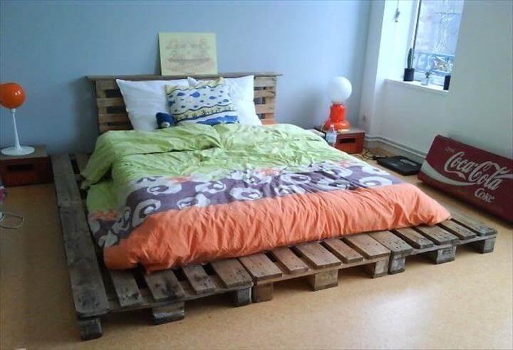 42 Diy Recycled Pallet Bed Frame Designs