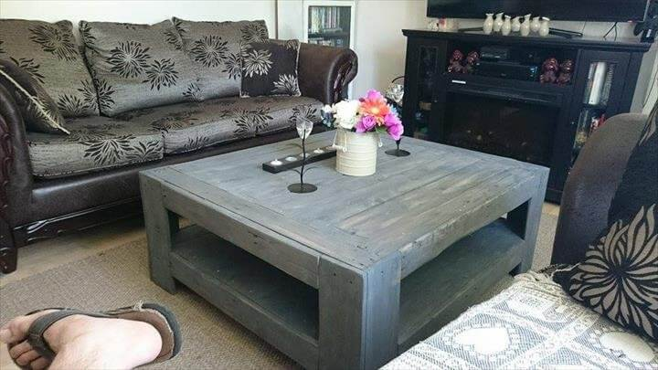 diy wood pallet coffee table