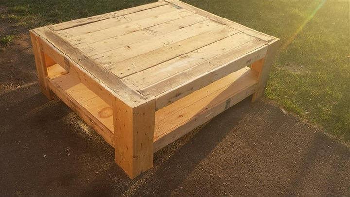 Coffee Table Upcycled Wood Pallet Coffee Table DIY Pallet Coffee Table