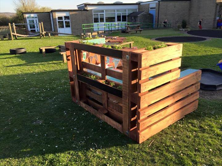 rustic pallet mud kitchen