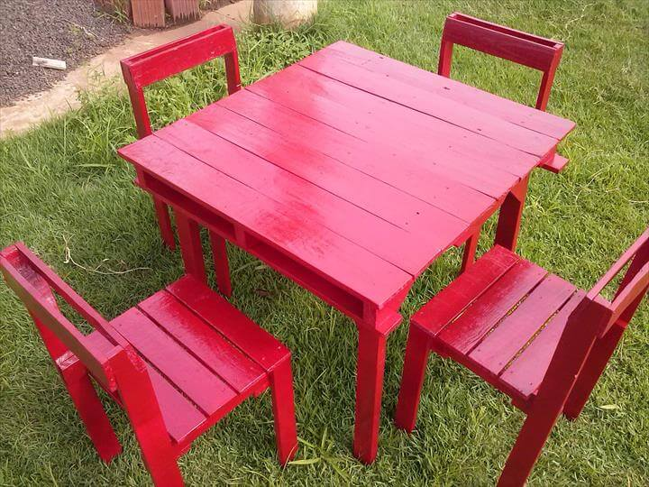 Patio sitting furniture made from pallets