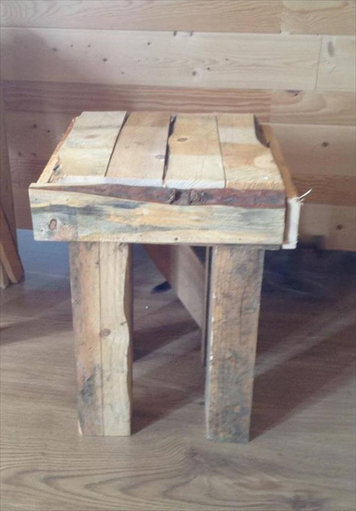 Pallet side table and end table 101 pallet ideas for End tables out of pallets