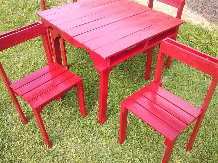 Pallet Patio Sitting Furniture Set