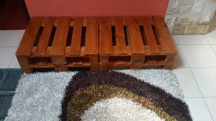 easy to install pallet entryway bench
