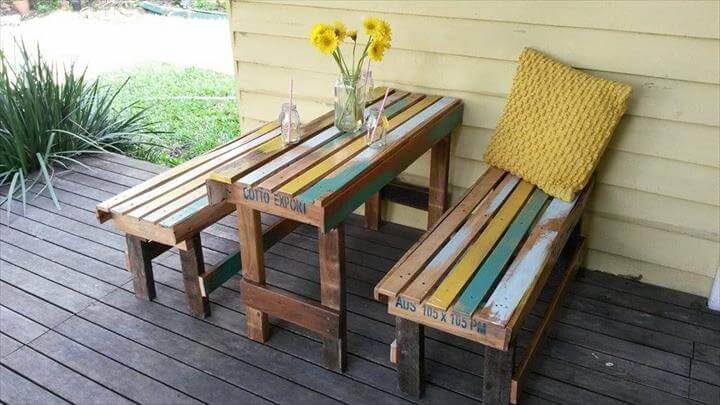 Pallet Patio Furniture diy wooden pallet patio furniture set - 101 pallet ideas