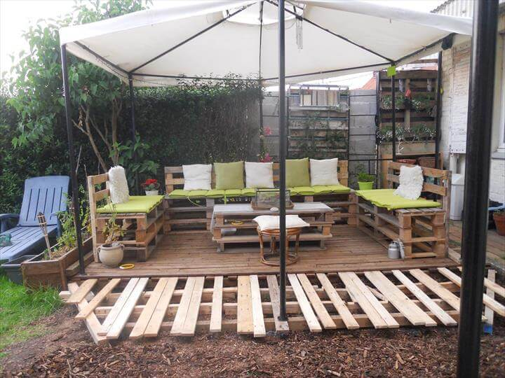 DIY Pallet Patio Furniture Deck 101 Ideas