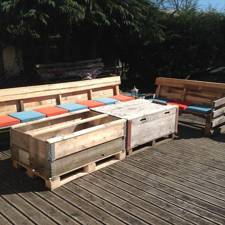 reclaimed pallet outdoor and patio furniture set