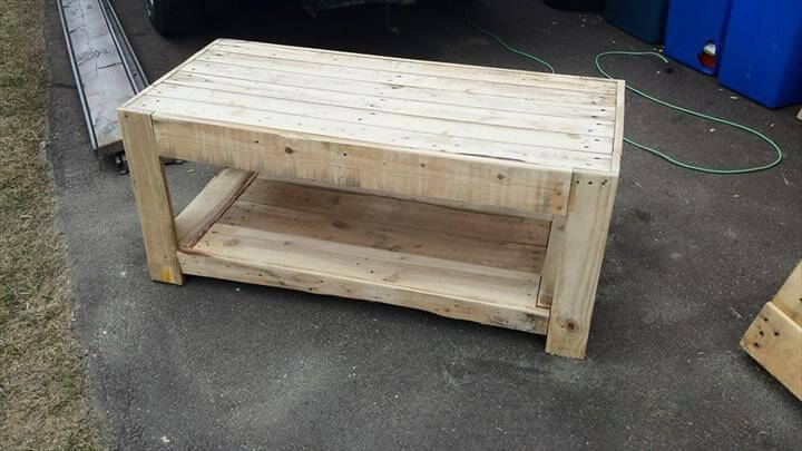 This custom construction of pallet coffee table has also been done ...