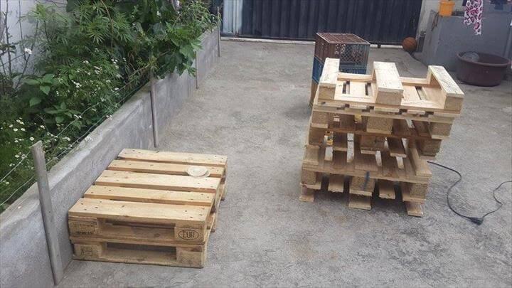 rustic pallet skids