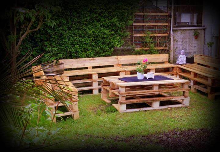 Upcycled Pallet Furniture For Patio Source