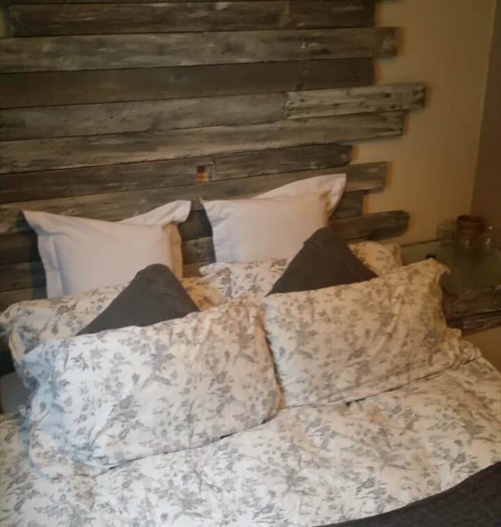 antique pallet headboard