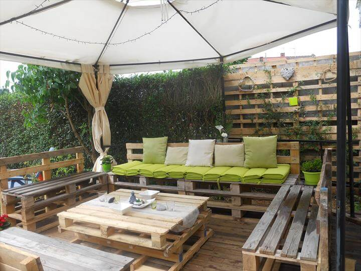 DIY Pallet Patio Furniture - Pallet Deck