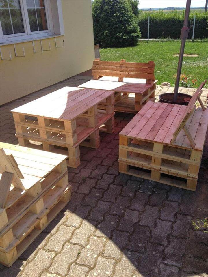 Patio Furniture Set Made From Pallets