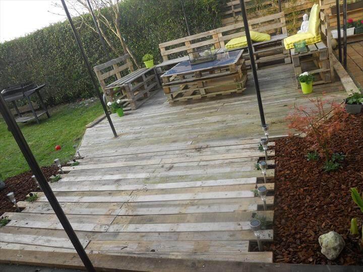 diy pallet walkway - Diy Patio Floor Ideas