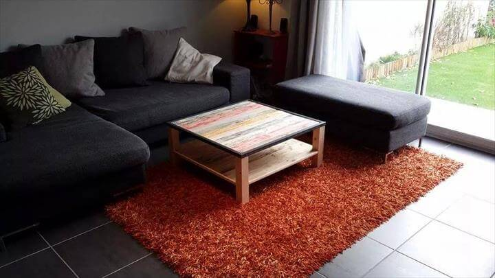 upcycled pallet cushioned sofa