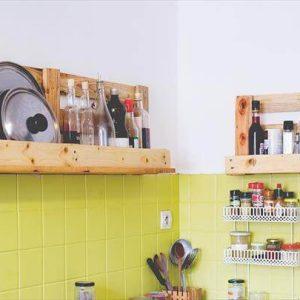 pallet kitchen shelves made of pallets