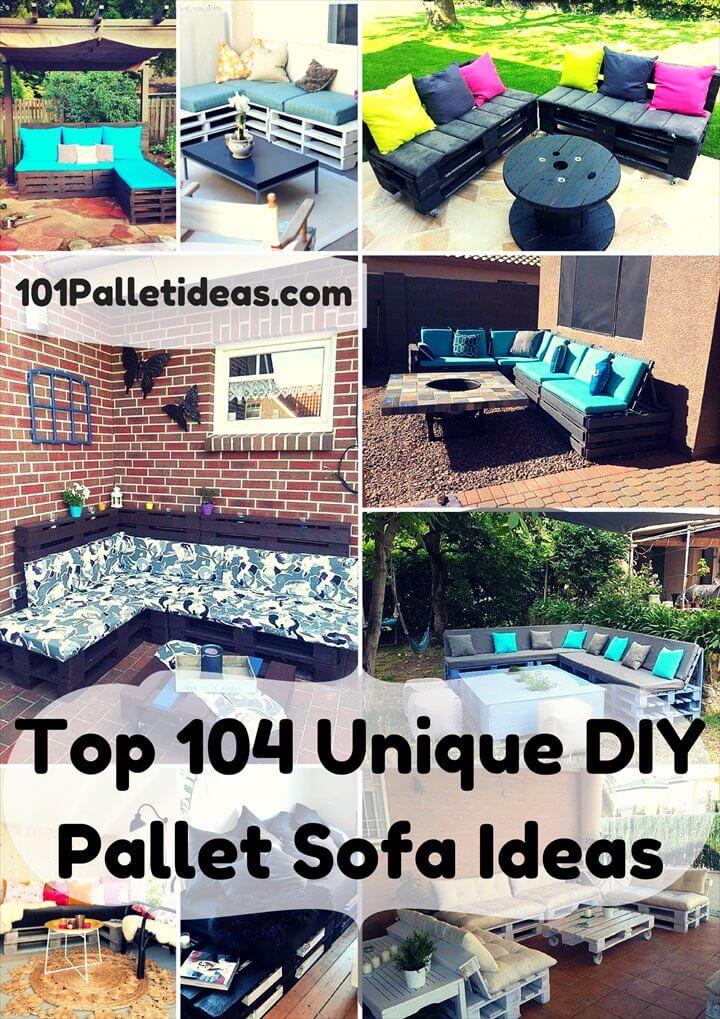 Unique DIY Pallet Sofa Ideas
