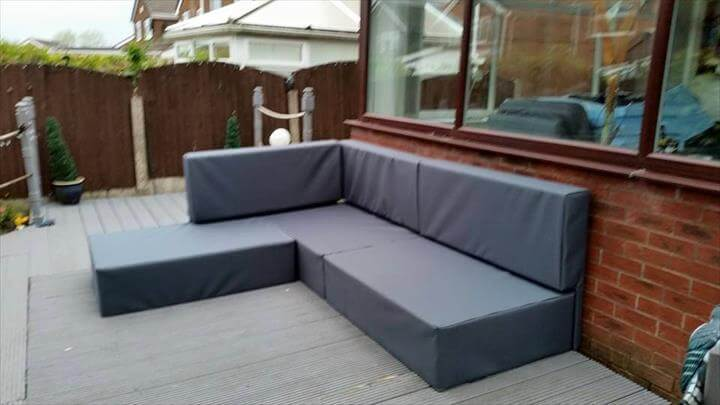 upcycled pallet upholstered L-sofa : how much is a sectional couch - Sectionals, Sofas & Couches