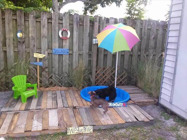 diy pallet doggie pool