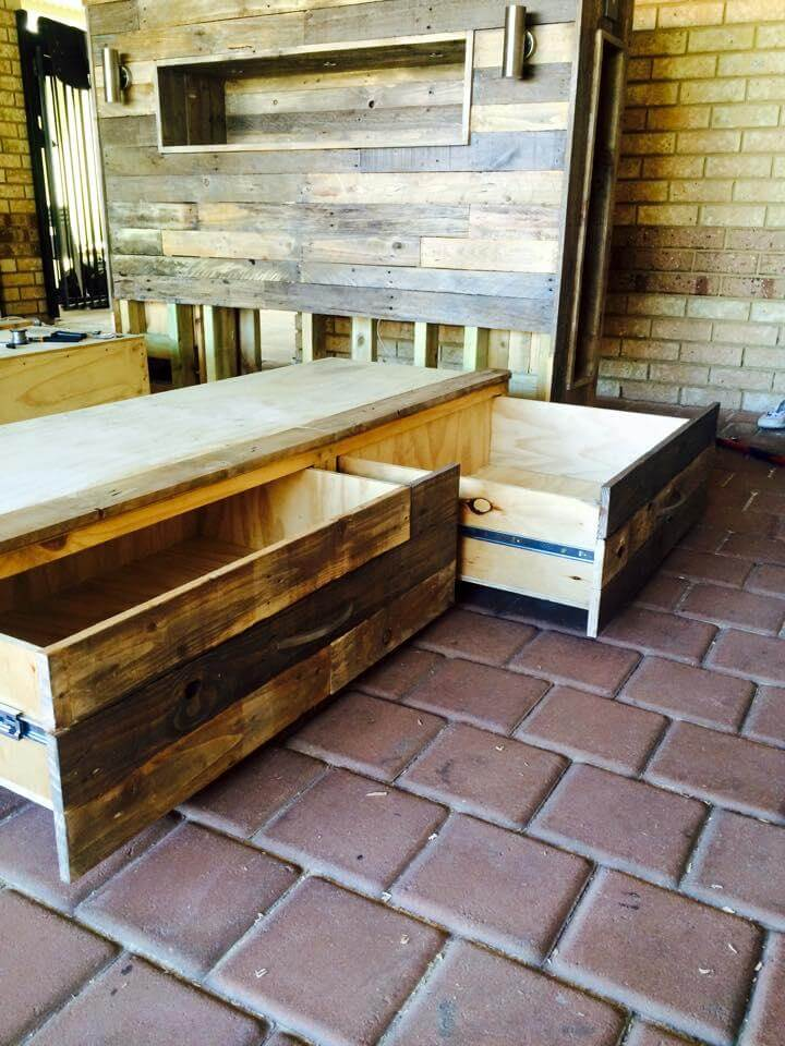 diy pallet storage friendly bed