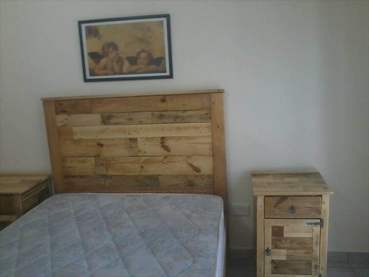 Bedroom Furniture Refurbish with Pallets