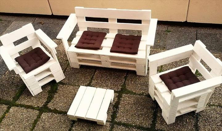 Pallet Patio Sitting Furniture Set 101 Pallet Ideas