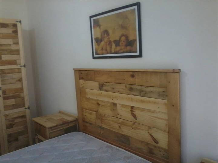 pallet bedroom furniture bedroom furniture refurbish with pallets 101 pallet ideas 12786