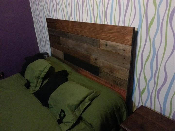 Pallet Rustic Headboard Accent
