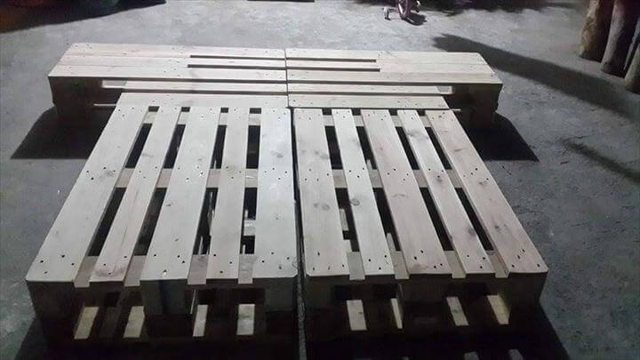 handmade pallet platform bed