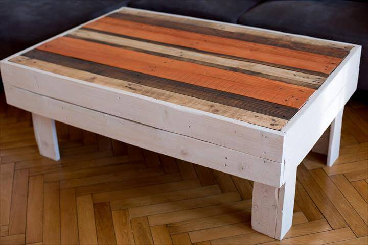 Diy wood pallet coffee table for How to make a wood pallet coffee table