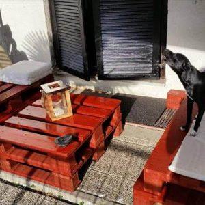 handcrafted pallet sitting furniture set