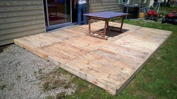 Reclaimed Pallet Deck Flooring – Pallet Outdoor!!