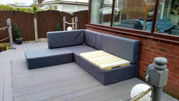 diy modern pallet garden sofa : wooden sectional sofa - Sectionals, Sofas & Couches
