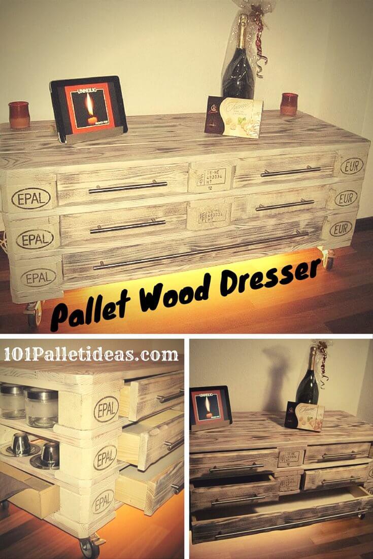 DIY Pallet Dressers