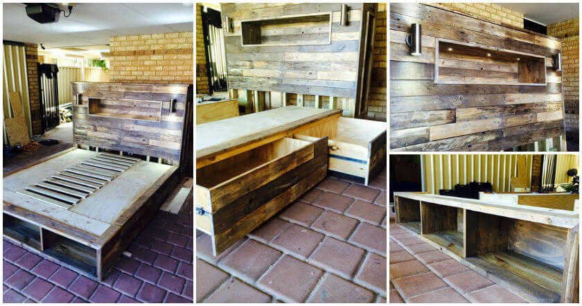 DIY-Pallet-Bed-with-Headboard-and-Lights-fb Pallet Wall Art Kitchen Decor Ideas on pallet bedroom decor, pallet kitchen shelves, pallet kitchen chairs, pallet garbage can, pallet kitchen signs, pallet kitchen wall ideas, pallet kitchen art, pallet kitchen outdoor, pallet wall decorations, pallet storage bed, pallet kitchen tables, pallet home decor, pallet kitchen wall clocks, pallet kitchen storage, pallet kitchen cabinets, pallet bathroom decor, pallet kitchen furniture,