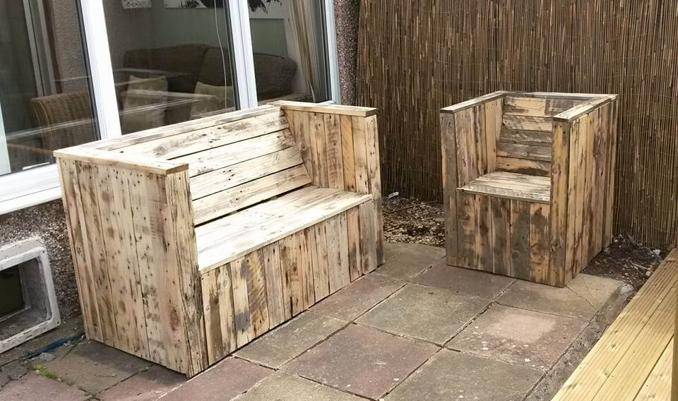 Garden Furniture Out Of Crates spectacular pallet patio furniture ideas