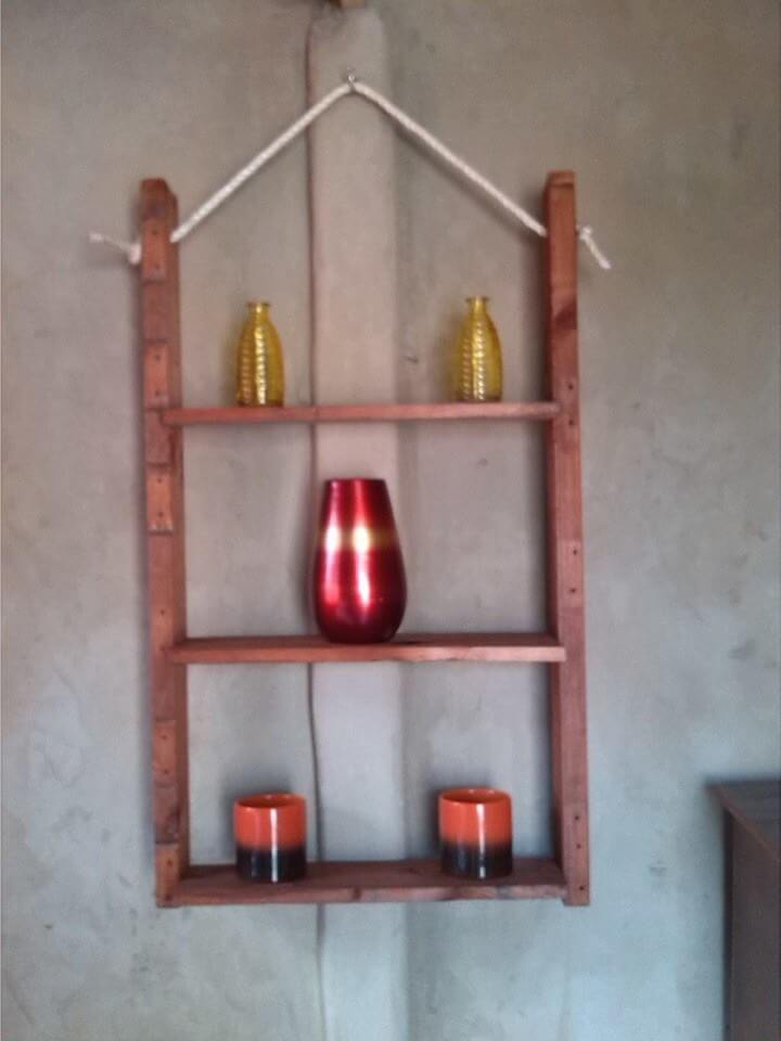 Wall hanging shelves diy : Diy creative things made from pallets