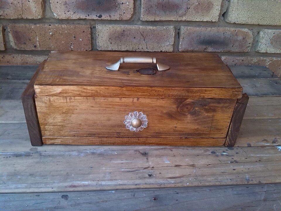 Decorative wooden pallet box for Diy decorative wood boxes