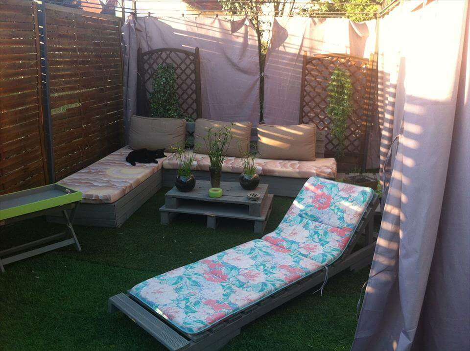 exellent garden furniture from wood pallets wooden with ideas - Garden Furniture Wooden Pallets