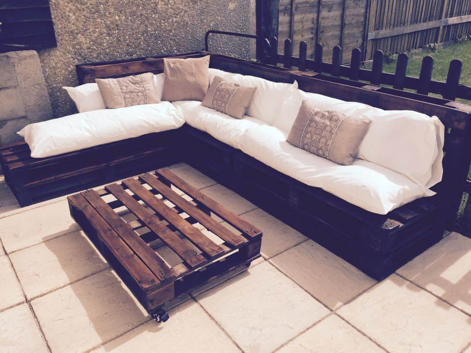 ... Outdoor Pallet Sectional Sofa