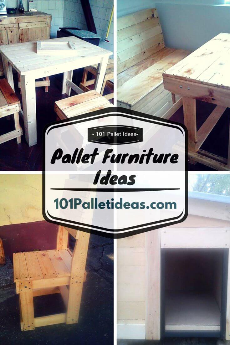 5 unique diy wood pallet furniture ideas for Furniture ideas