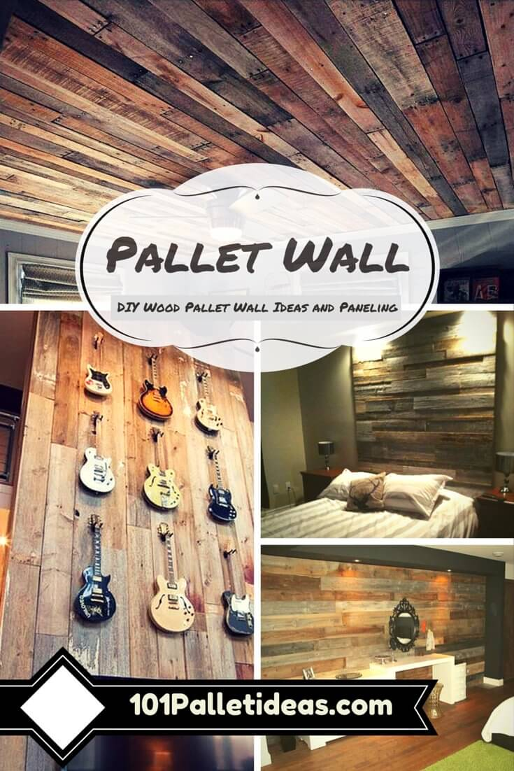 DIY pallet accent wall ideas