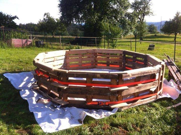 Diy Pool Ideas 7 diy swimming pool ideas and designs from big builds to weekend projects Wrapping The Tape Around The Installed Whole Pallets