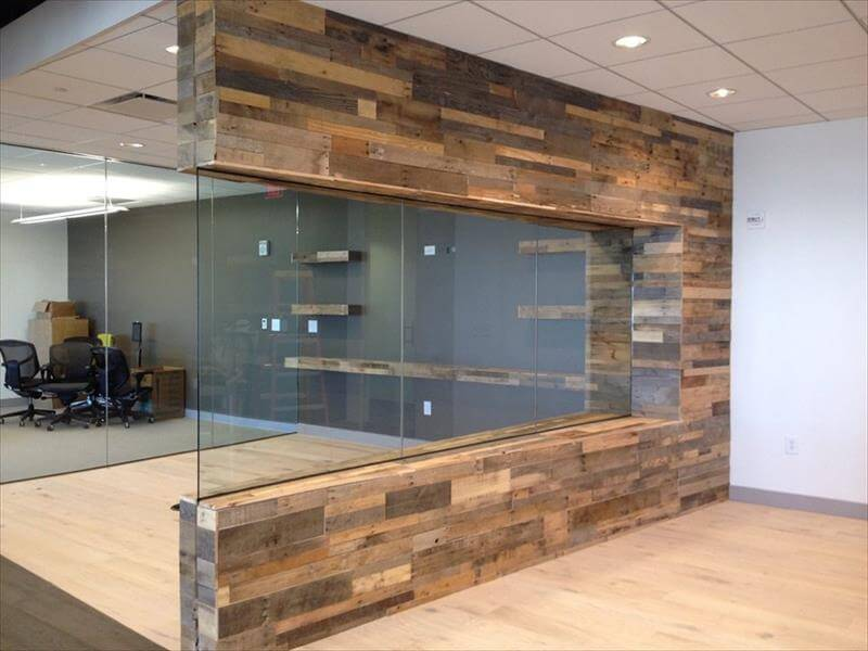 Wall Paneling Designs For Office : Diy wood pallet wall ideas and paneling