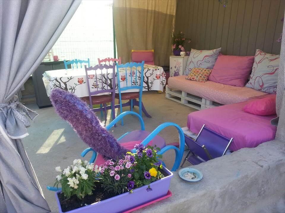Spectacular Pallet Patio Furniture Ideas