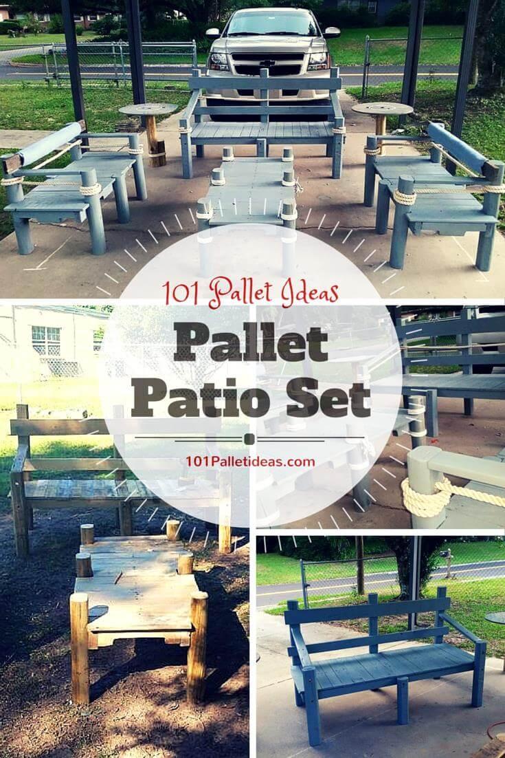 pallet patio furniture set - Pallet Patio Furniture
